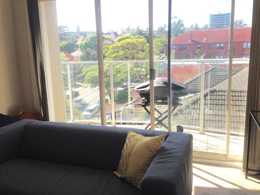 Living room / South facing balcony