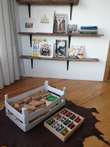 Our home is childrem friendly. Books and toys are there for young guests to enjoy.