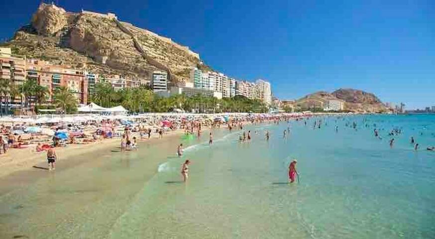 Alicante, playa, centro, nuevo, Wi-Fi, A/C, beach