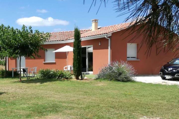 Villa en bord de Garonne