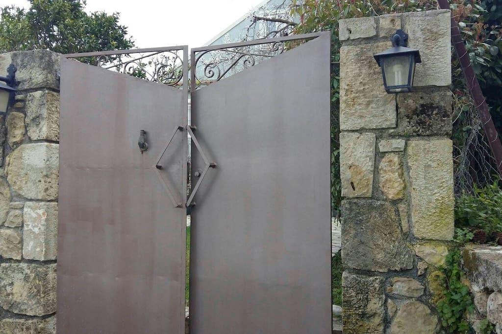 the main entrance gate