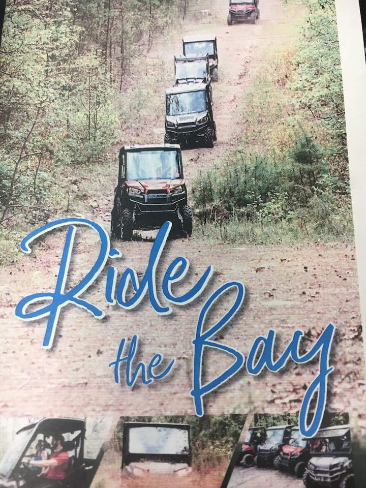 Ride the ATV trails!!! Then come and stay at a very quite place with parking for your trailer with your ATV!!