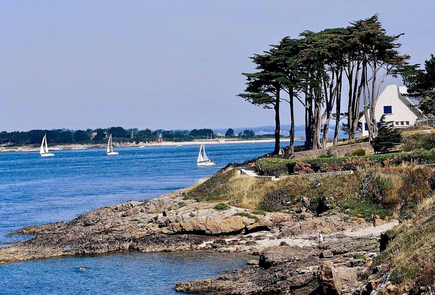Port Navalo : entrée du Golfe