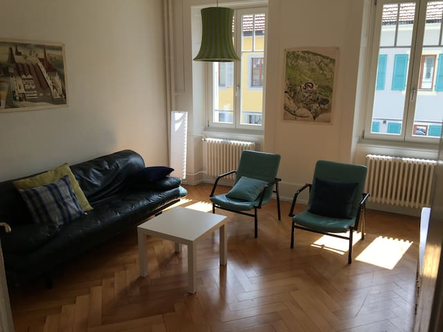Nice 2 bedrooms and 1 living room. WIFI+TV - Saint-Imier - Apartemen