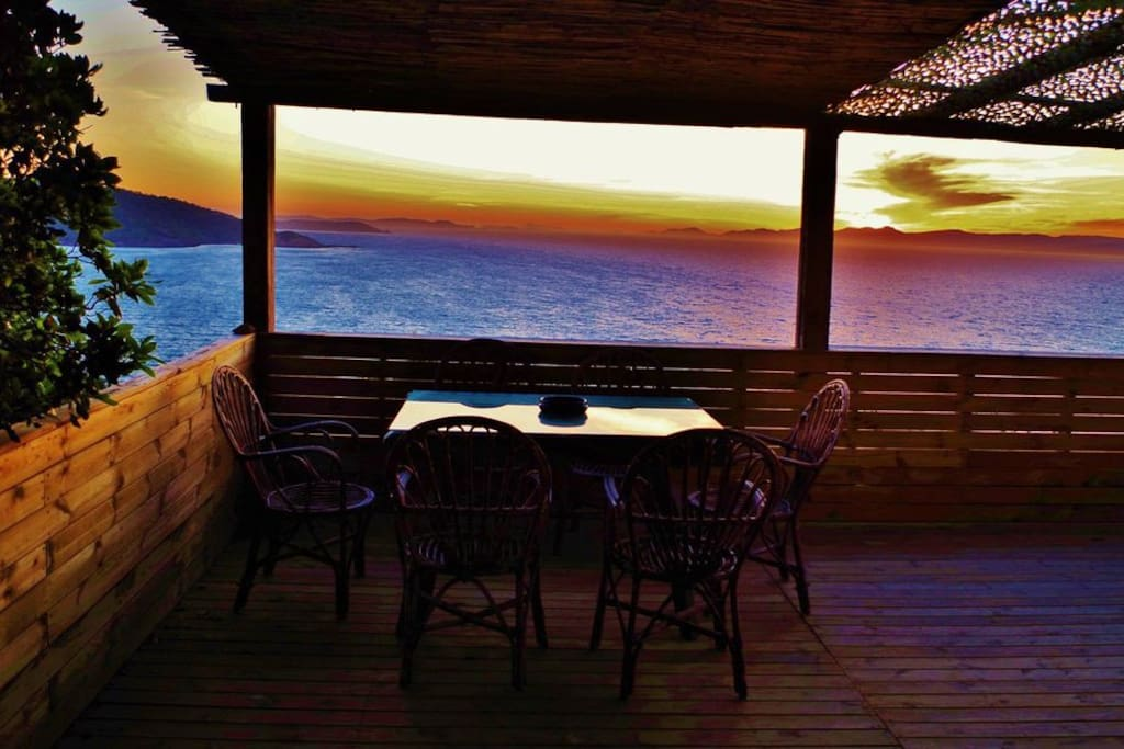 La table d'entrée le soir...
