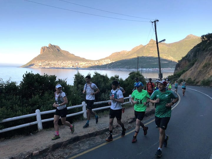 Running up from Hout Bay