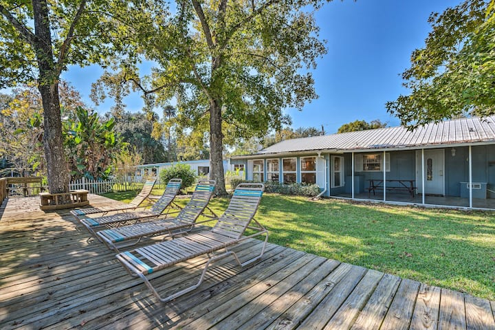Canal-front Home w/ Boathouse & Fishing Deck!