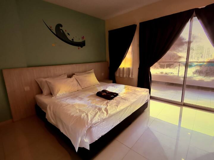 Marina Island King bed Homestay @ Lumut 1#Goopro