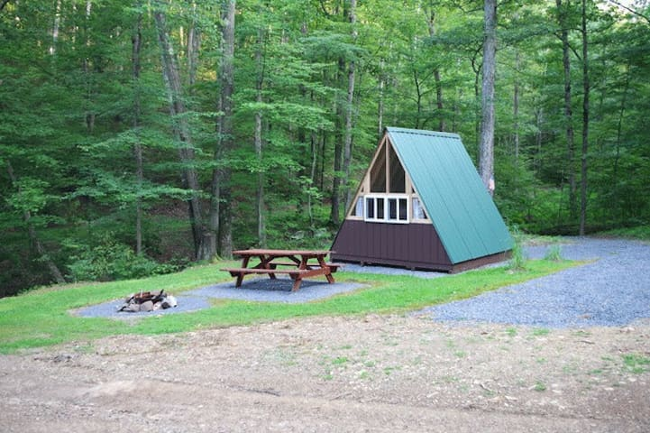 A-frame Camping Cabin