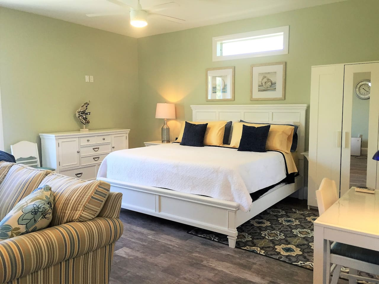 You will sleep comfortably on this brand-new, king-size, Serta Beauty Rest, pillow top mattress.