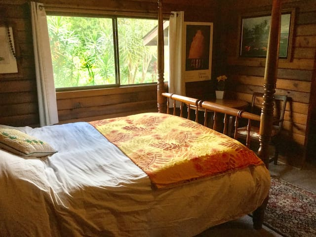 Private Room in Cedar Log Cabin - Waimea - Casa