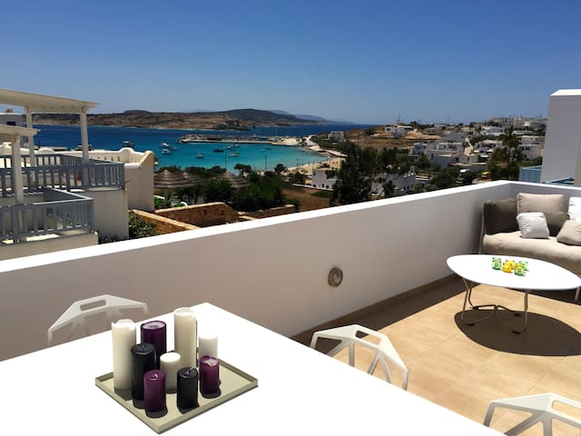 Modern apartment with sea view - Koufonisia - Huoneisto