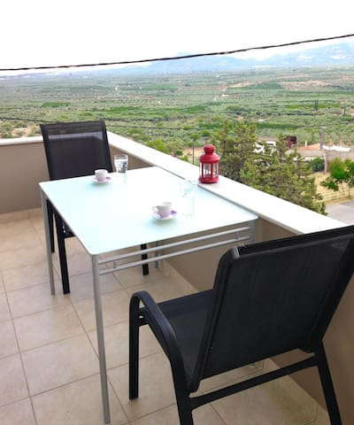 Residence with panoramic view of the olive groves - Molaoi - Flat