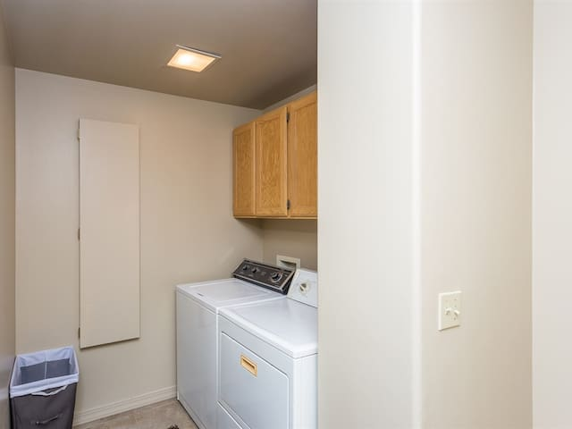 Downstairs washer and dryer