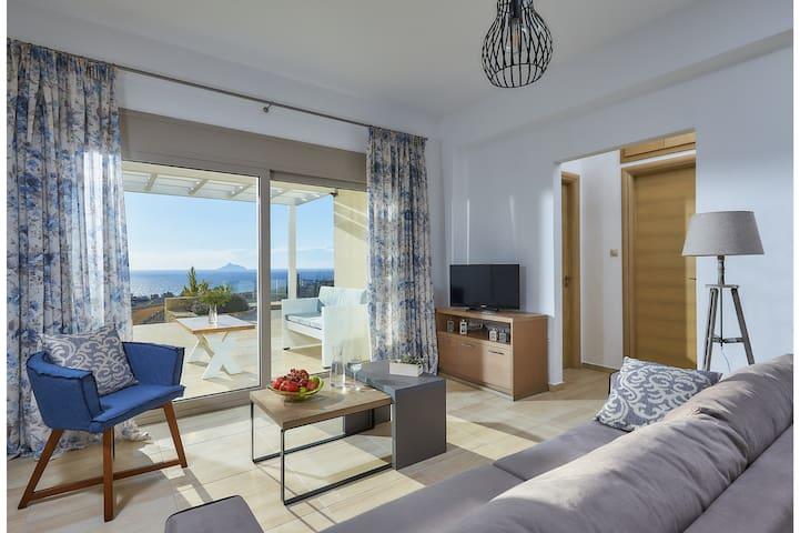 Romantic getaway overlooking Mediterranean Sea