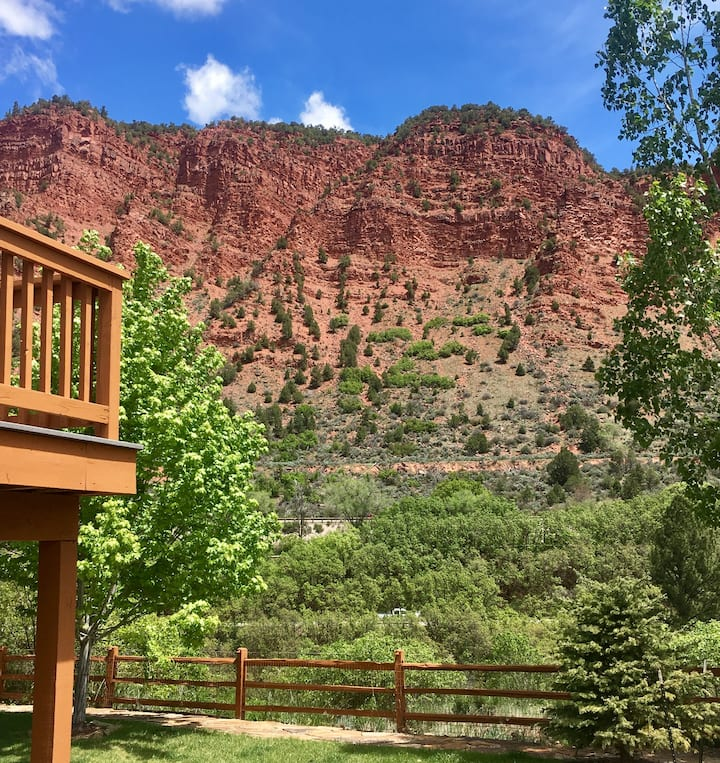 Roaring Fork River and mountain getaway