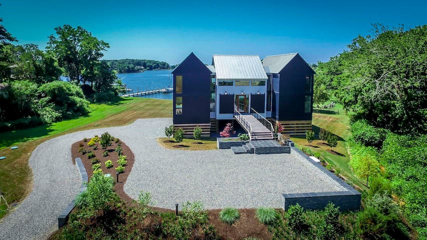 Modern Meets Rural Waterfront Home Near Tides Inn