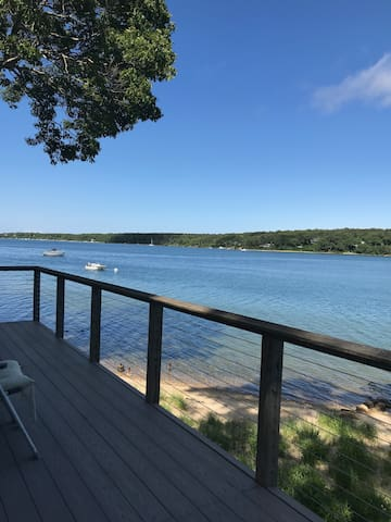 Front deck - beach and Lagoon