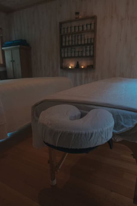 Enjoy a massage in the Wellness studio onsite,  couples massages available too