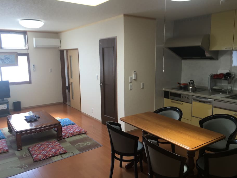 Large space in living and dining.