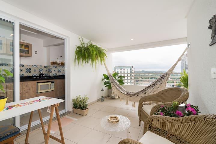 Cozy flat in Pinheiros-Faria Lima - São Paulo - Apartment