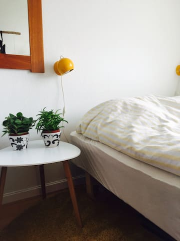 8 m2 cozy room with 140x200 bed and small tv. - Viby J - Wohnung