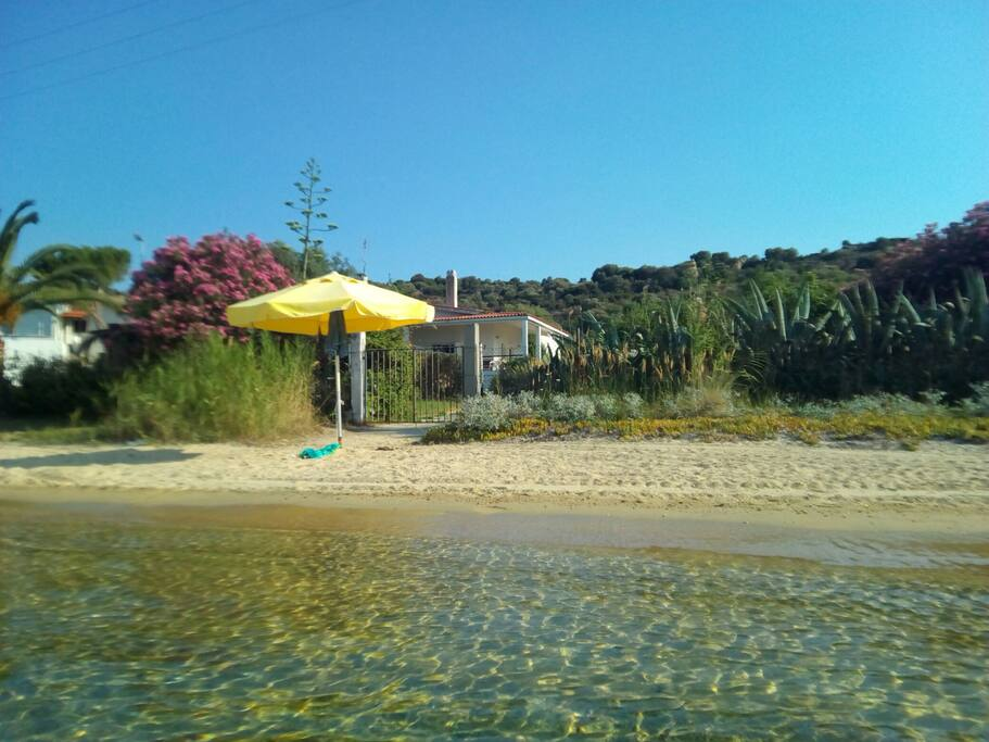 beach in front of the house