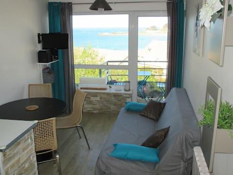 Duplex sea view, 70 m from Trestel Beach