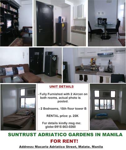 Adriatico Manila for rent