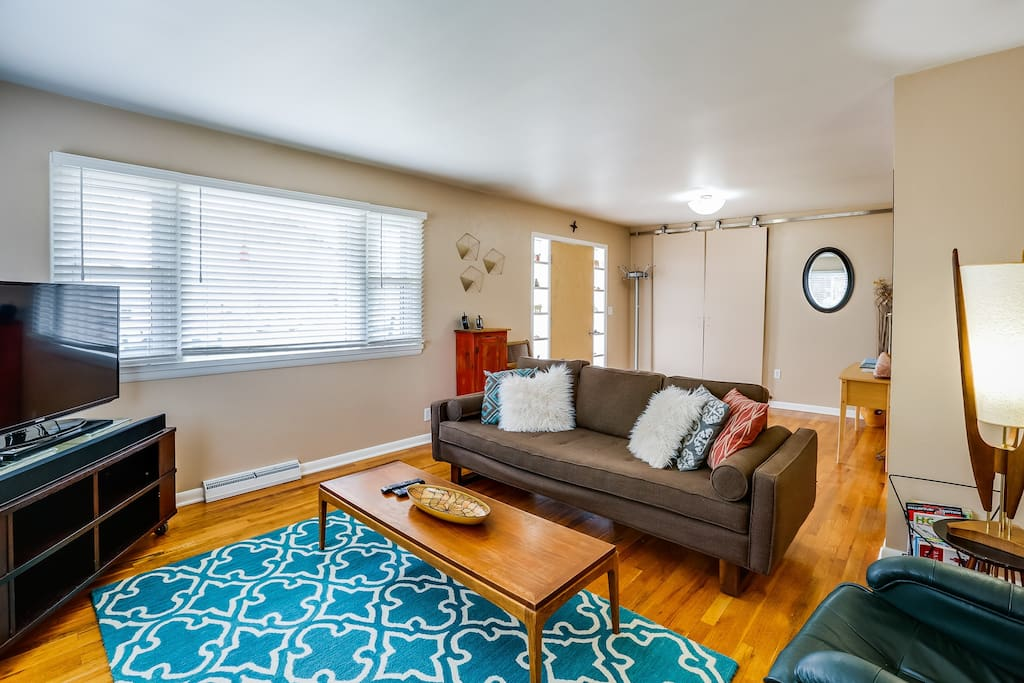 Bright comfortable living room