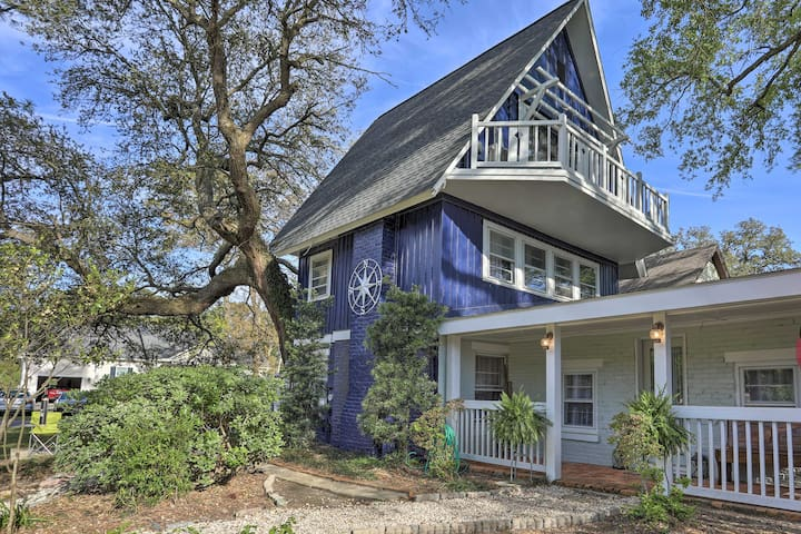 NEW! Coastal, Walkable Home in Historic Southport!