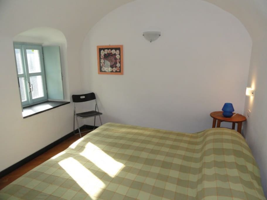 the masterbedroom.It is equipped with wide guardrobe. Terrific view onto the valley below.