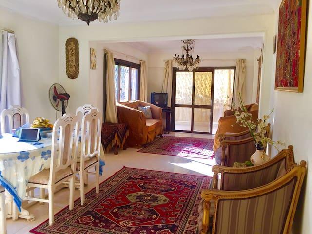 阳光舒适双床房,带有空调' - Nasr City - Apartamento