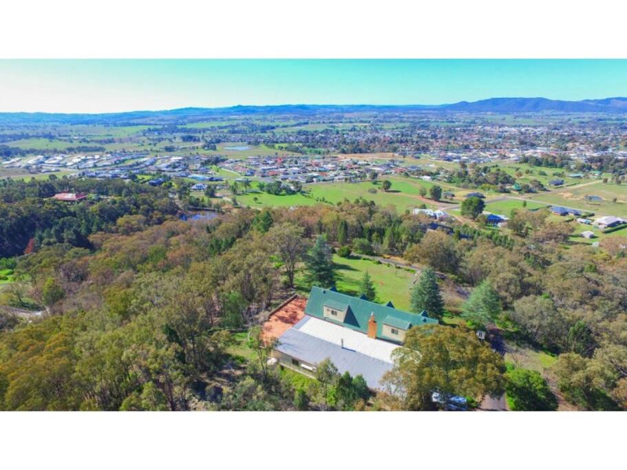 View of Rosebank Estate and view to Mudgee town