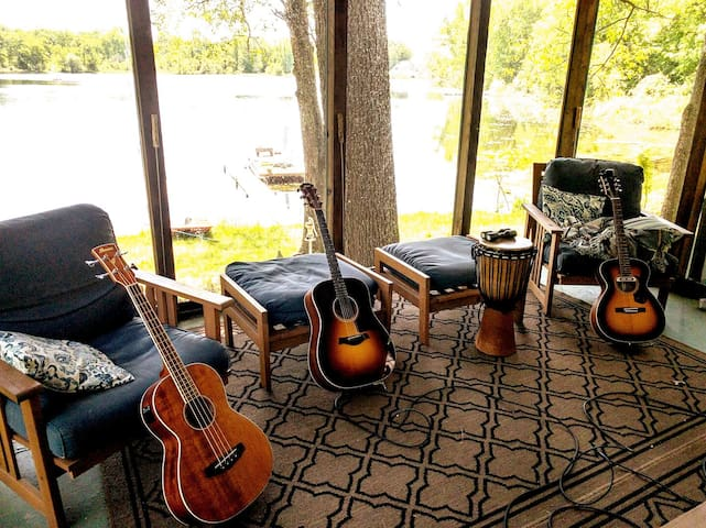Great porch for a jam session!
