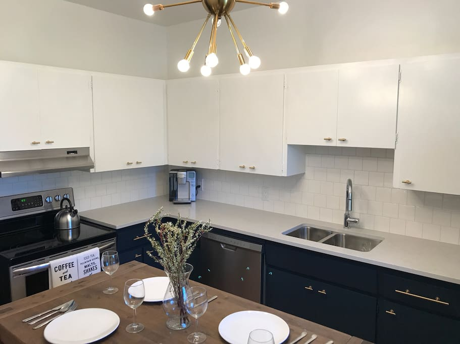 Our fully renovated kitchen