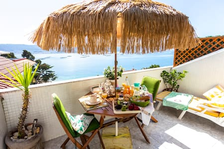 Balcony at Rias Baixas - Couple's Getaway + Pool