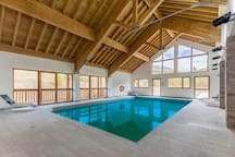 Dive into the lovely indoor pool after a great day.