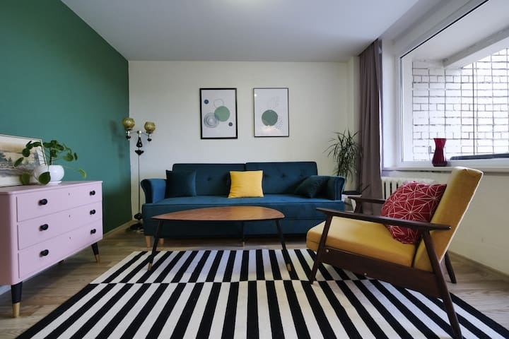 cozy apartment featured on TV, podcasts, magazines