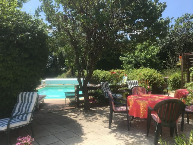 Location villa avec piscine privative Loup BLanc