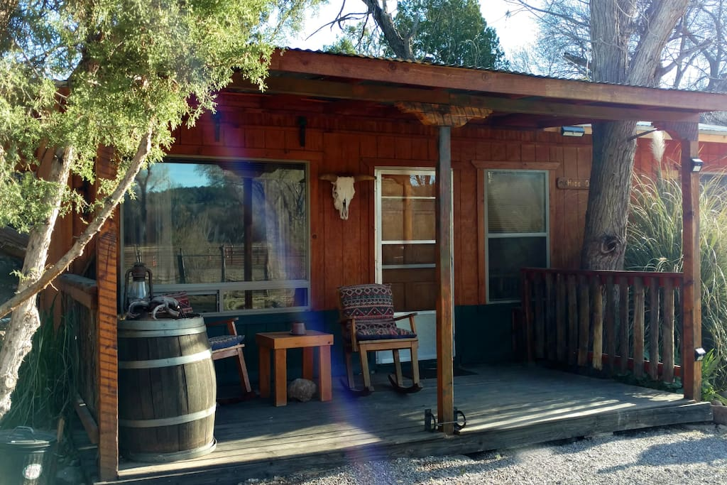 Sun Shining on Hideout Cabin at New Mexico Cabin Rentals
