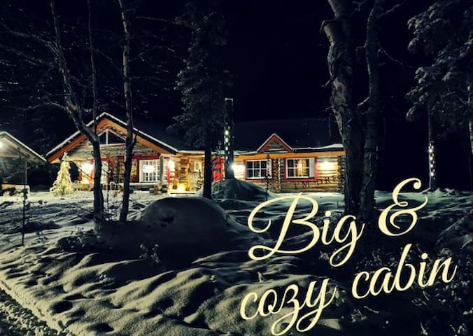 Big and cozy log cabin in Finnish Lapland