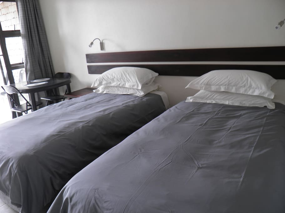 Singles or a king bed