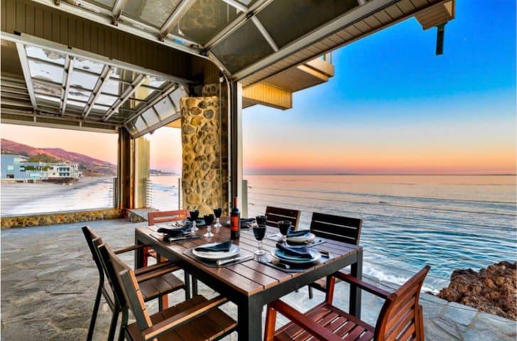 Malibu Beachfront with half mile beautiful beach