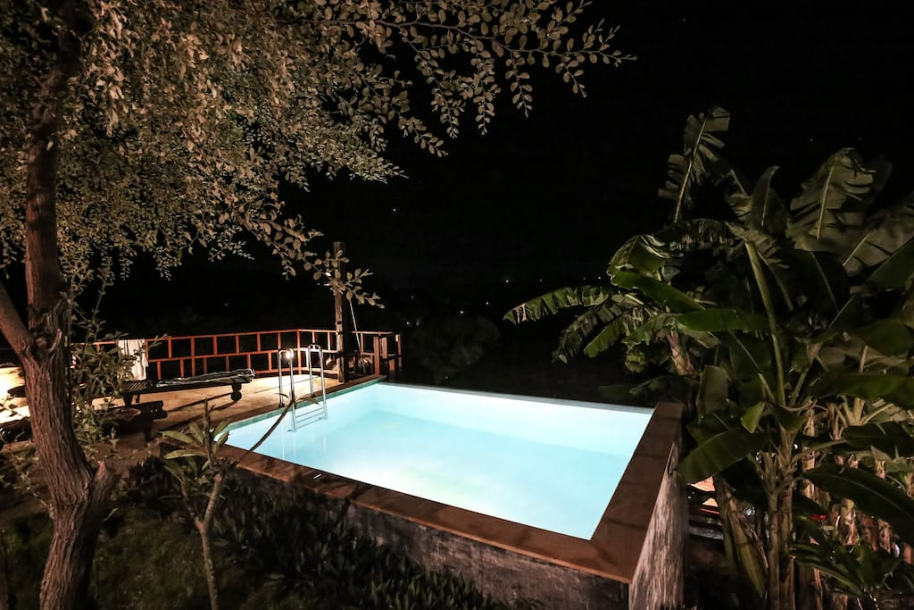 Top pool by night
