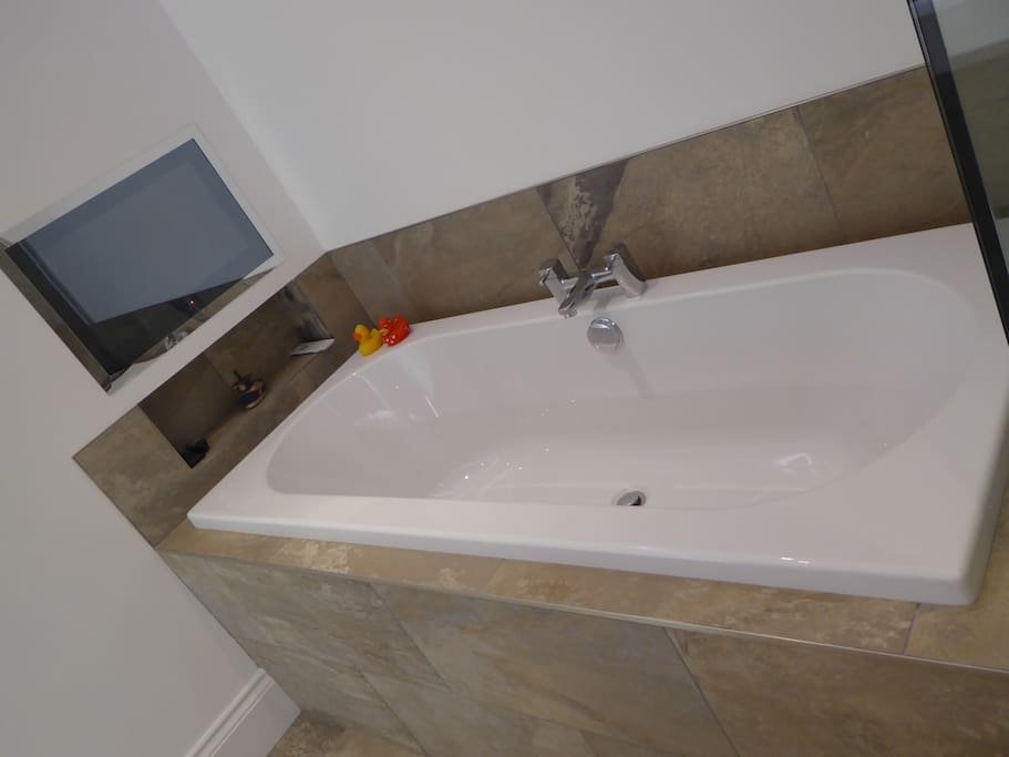 Luxurious indulgence - watch TV in the bath!