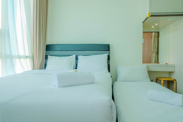 Sea View 1BR Apartment for 4 Pax at Ancol Mansion