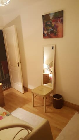 mirror and chair