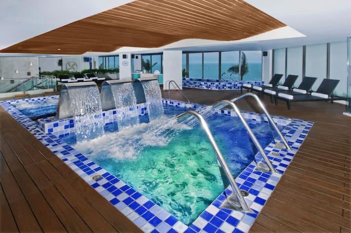 incredible apartment with ocean view in resort