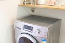 滚筒式洗衣机。